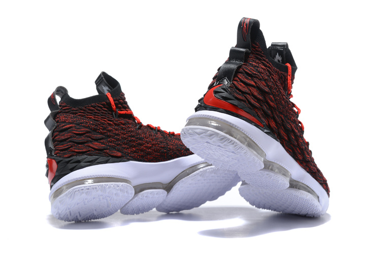 6558c2f937a New Release Nike LeBron 15 University Red Black-White