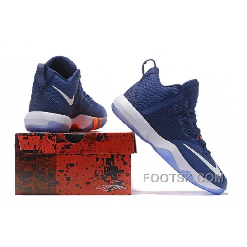 low priced b217f 2f8fe ... ebay nike lebron ambassador 9 zoom air men navy blue white orange  christmas deals 40f2a 9dc01