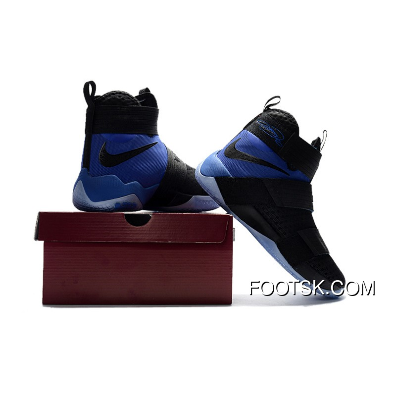 "best cheap acf88 726f4 Nike LeBron Soldier 10 SFG ""Game Royal"" Black Blue Copuon Code EE6Z5"