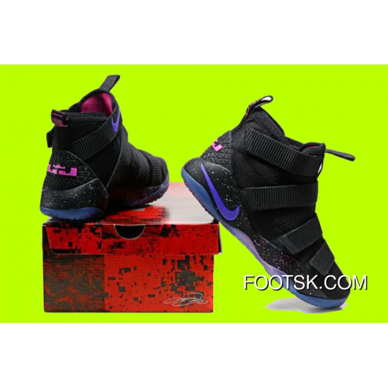 outlet store 17663 0fdfc Cheap Nike LeBron Soldier 11 'Galaxy' Black Purple Pink Sale Copuon Code  Ip22tHi