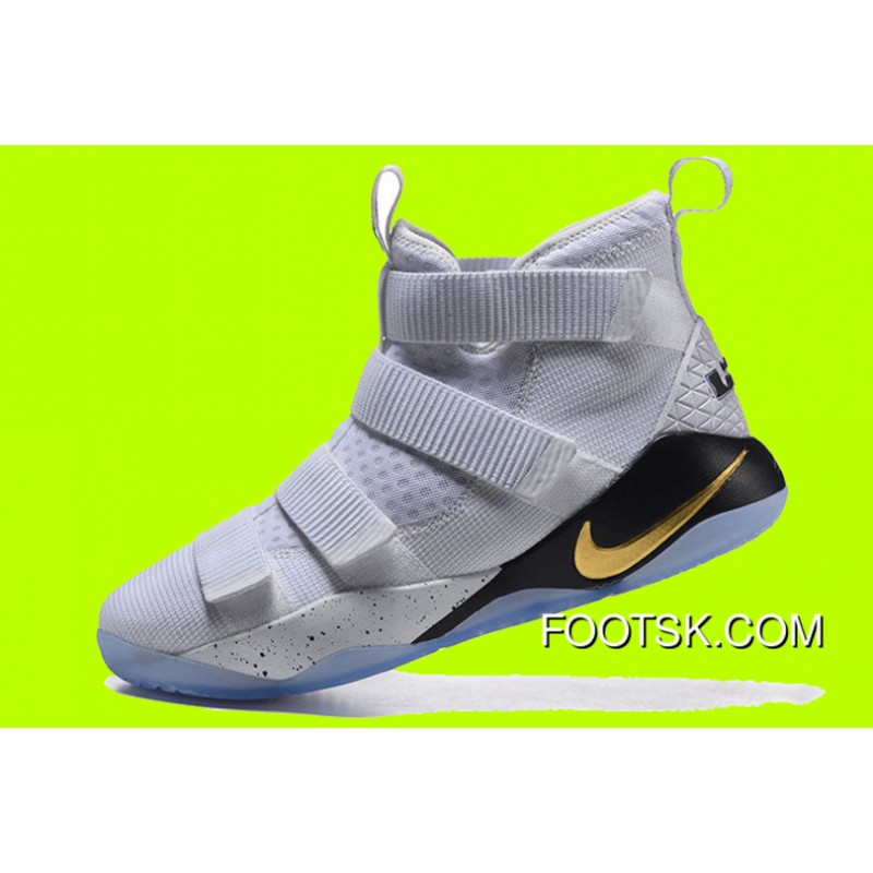 "finest selection e077b 0ddc6 Cheap Nike LeBron Soldier 11 ""Court General"" White/Metallic Gold-Black Best  6DnAR"