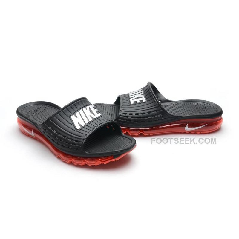 new product 4f98f 95a51 ... new zealand mens cheap nike air max sandals 2015 black and red silver  hot 30a5c c774d