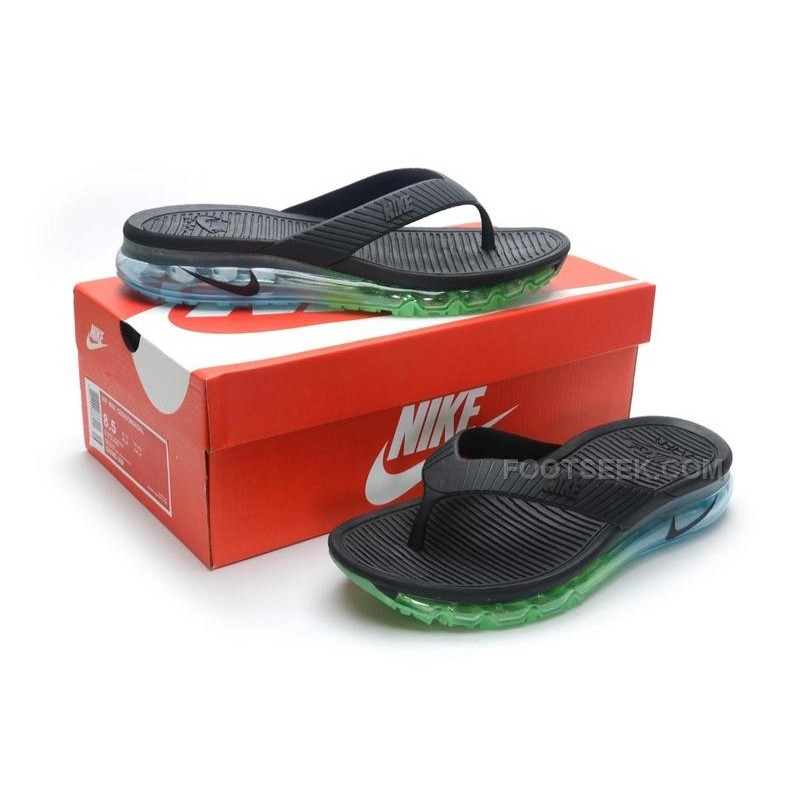a8fe7a55da66 ... denmark nike air max 2015 slide sandals flip flops slipper black green  blue sale f781d 3110d