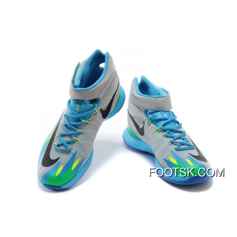 big sale 4c954 42fa6 ... Nike Zoom Hyperrev KYRIE IRVING Grey Vivid Blue-Game Royal-Black For  Sale ...
