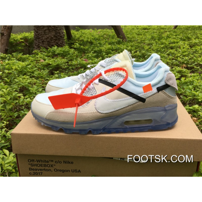 "timeless design edc8a d93a6 2018 Online OFF-WHITE X Nike Air Max 90 ""Ice"""