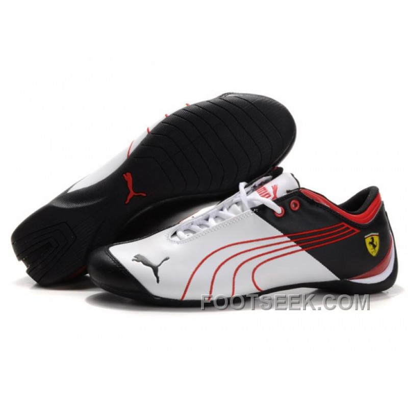 f235c345fc54 Puma Ferrari Future Cat M1 Shoes Black White Red