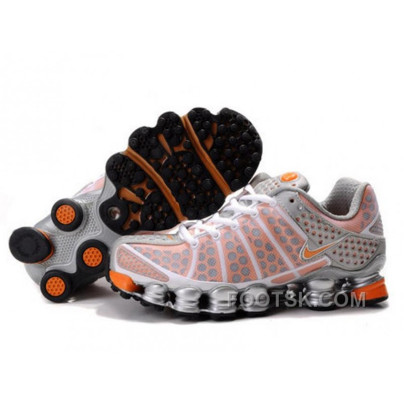 Women's Nike Shox TL Shoes White/Orange/Silver Online