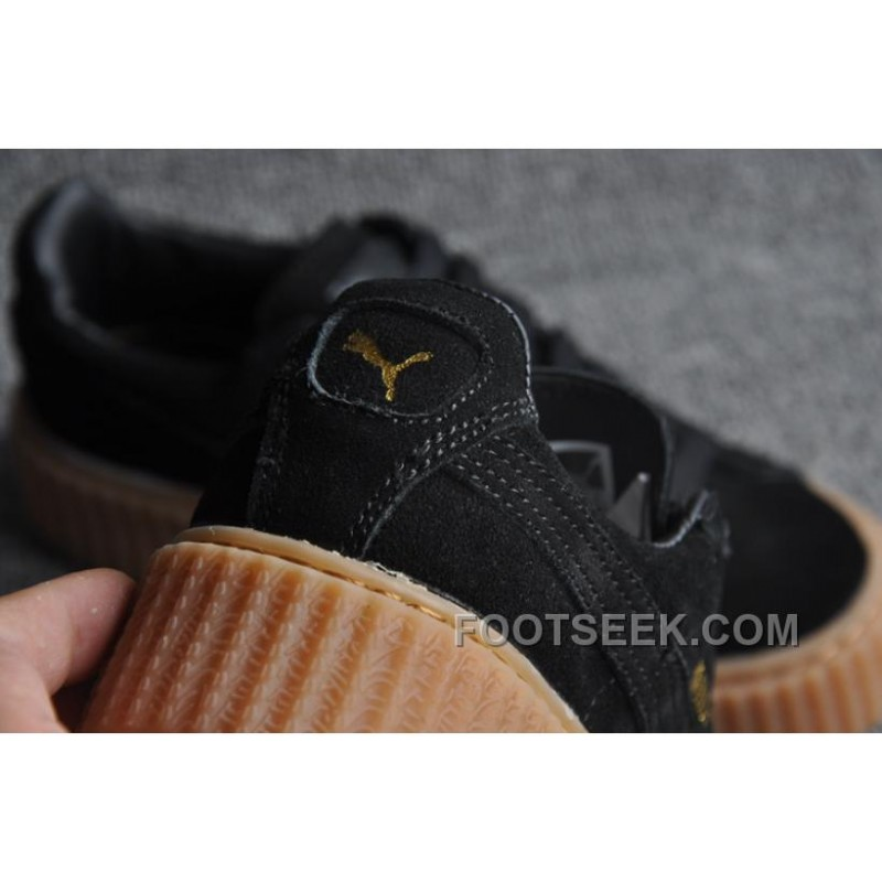 huge selection of 6badc 498ba Puma Rihanna Suede Creepers 361005-03 Black Brown 36-45