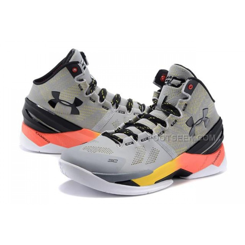 free shipping 629ca 04806 UA Curry 2 Iron Sharpens Iron Under Armour Stephen Curry 2 Orange Grey Shoes