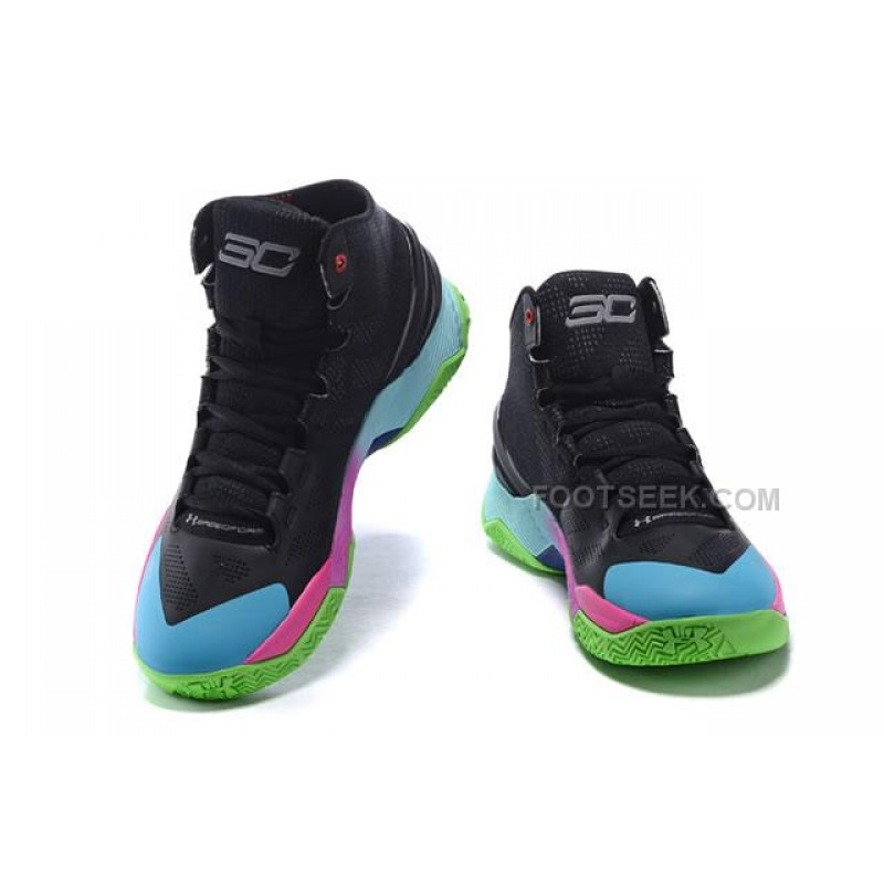 best service fbfc3 5541a UA Curry 2 Under Armour Stephen Curry 2 Black Pink Lightblue, Price   88.00  - Discount AUTHENTIC Shoes - FootSk.com