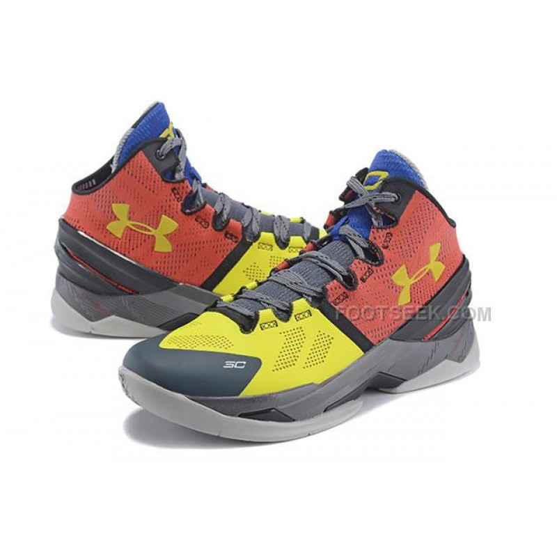 bada121f8c64 ... UA Curry 2 Under Armour Stephen Curry 2 Black Yellow Red Shoes ...