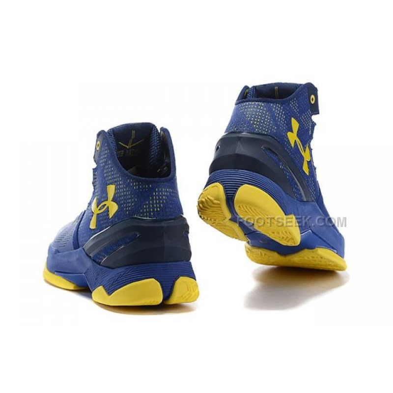 huge discount 576bd 33f96 UA Curry 2 Under Armour Stephen Curry 2 Yellow Blue Shoes