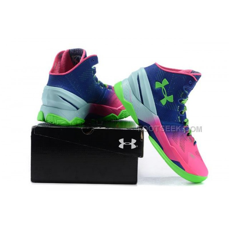 the latest cc76c 700b3 ... UA Curry 2 Under Armour Stephen Curry 2 Blue Pink Green Shoes ...