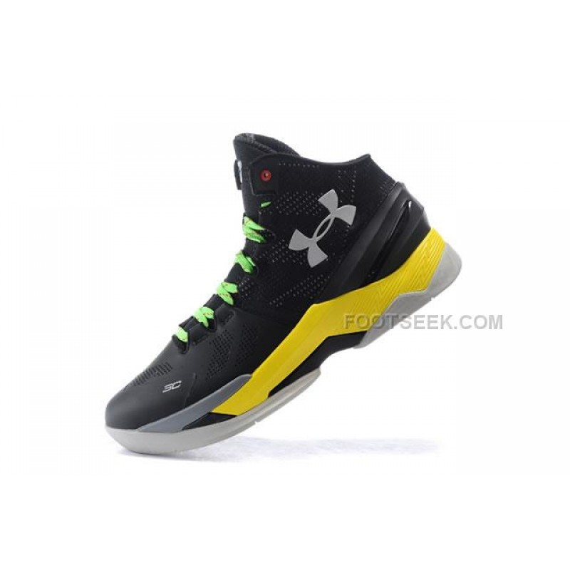 new style 0939a 05048 UA Curry 2 Under Armour Stephen Curry 2 Black Yellow Shoes