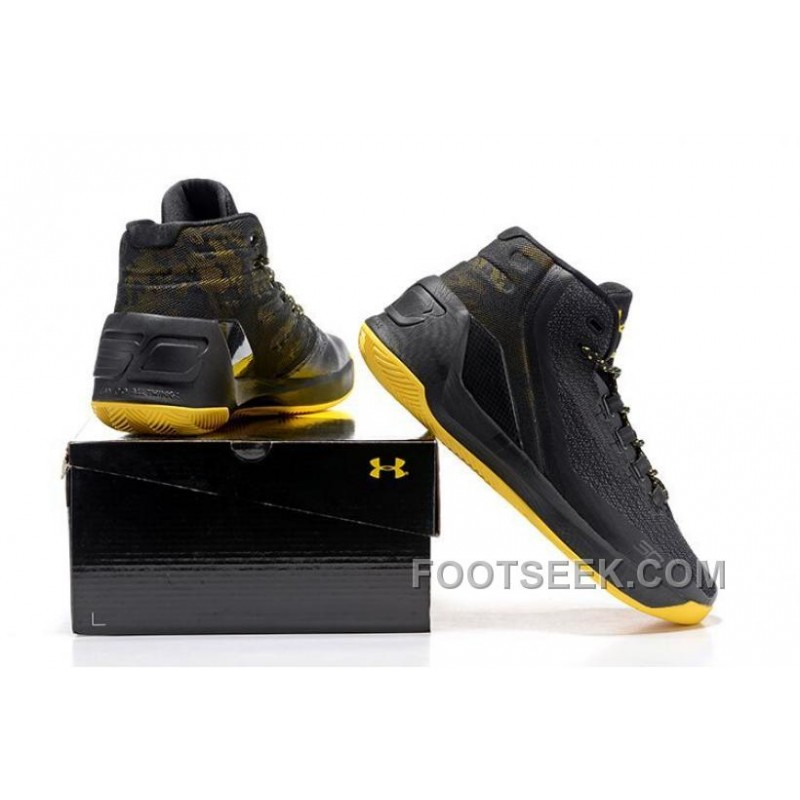 factory price ad343 9a5b9 Under Armour Stephen Curry 3 Shoes Black Yellow