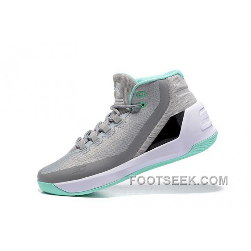 Under Armour Stephen Curry 3 Shoes Grey White Green