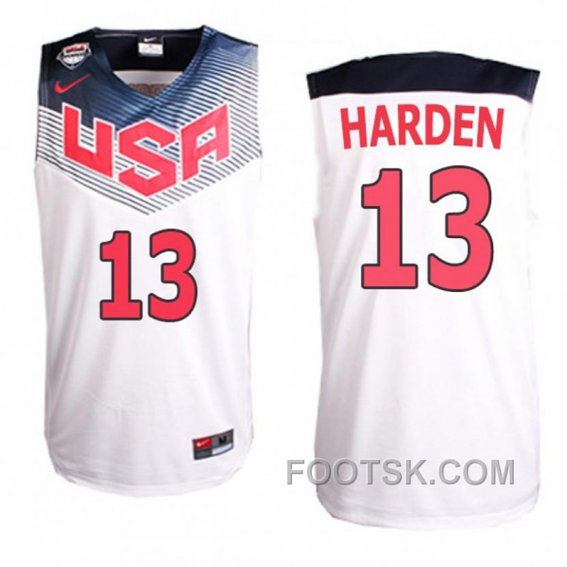 James Harden FIBA 2014 Basketball World Cup USA Dream Team White Jersey For Sale