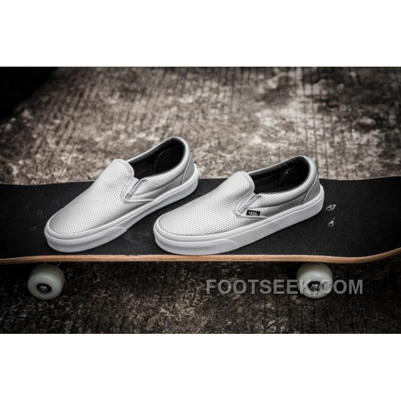 Vans Summer Slip On Shoes Breathable Hollow Space Silver Fashion Shoes Vans-066 35-44