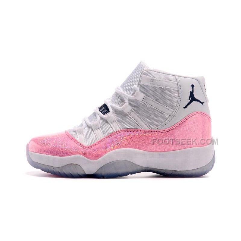 premium selection b64a1 19cea Girls Air Jordan 11 Ladies New Released White Pink Cheap Sale