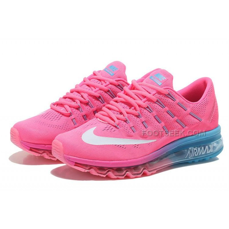 womens nike air max 2016 running shoes pink light blue