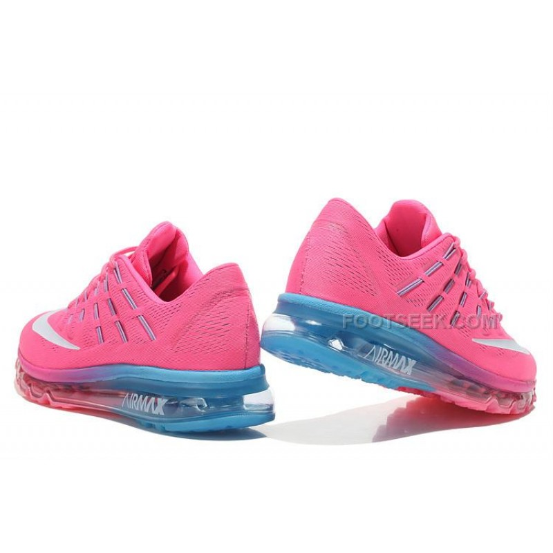 more photos f2916 408cb ... Womens Nike Air Max 2016 Running Shoes Pink Light Blue-White
