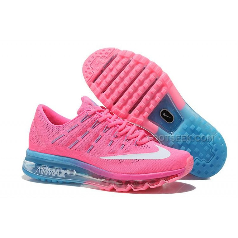 Womens Nike Air Max 2016 Running Shoes Pink Light Blue-White ... 15e68cfff1