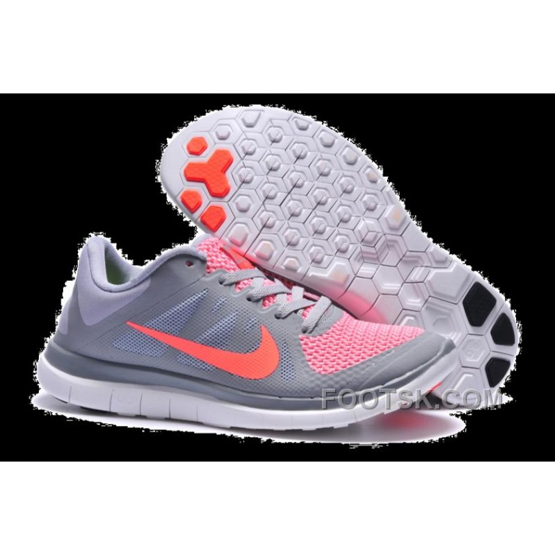 brand new 01b25 76038 Womens Nike Free 4.0 V4 Grey Pink Running Shoes New Style