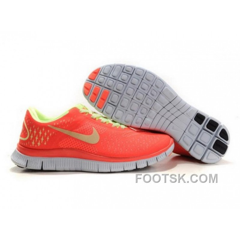 premium selection b2ec4 674d6 Womens Nike Free Run 4.0 V2 Neon Orange Pink Running Shoes Best